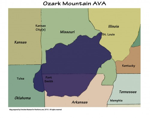 gallery for gt ozarks mountains map show me more wine vinoverve